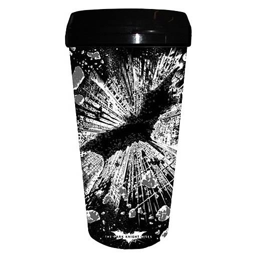 Coffee never looked so good! Batman Dark Knight Rises Plastic Travel Mug