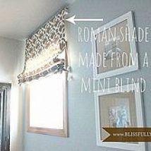 Hometalk :: Using a cheap-o mini blind and a Target curtain panel, I got creative…