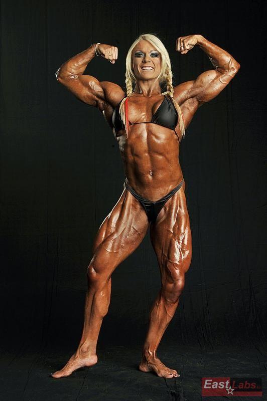 Female biceps pinterest crosses - Lisa cross fbb ...
