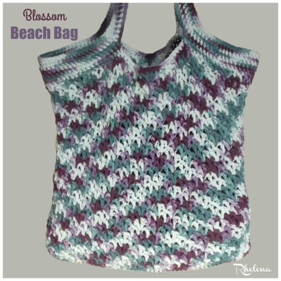 Crochet Straw Beach Bag Tutorial And Pattern : Blossom Beach Bag ~ FREE Crochet Pattern Moogly ...