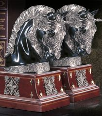 The Equestrian Armor Bookend - set of two