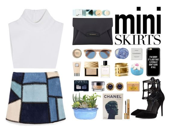 """""""mini skirt"""" by danielasilva12 ❤ liked on Polyvore featuring Zara, Michael Kors, Kendall + Kylie, Casetify, Byredo, Cutler and Gross, The Body Shop, Aesa, Helmut Lang and Burberry"""
