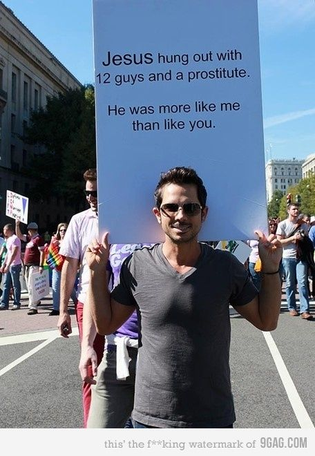 Gay Pride! You tell um brother :)