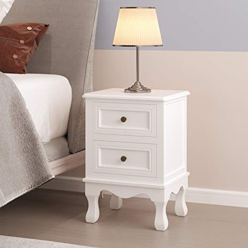 chevet bois blanc 2 tiroirs table