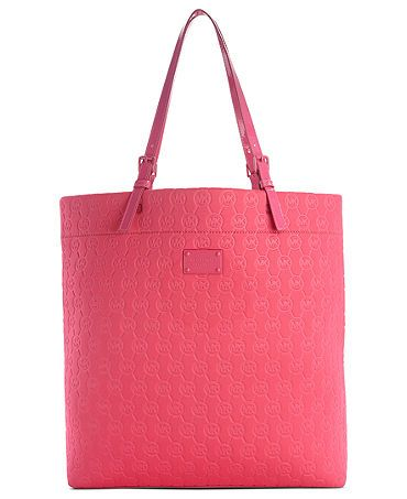 """I need another totebag like a hole in the head but I can't resist """"laquer pink"""" MICHAEL by Michael Kors"""