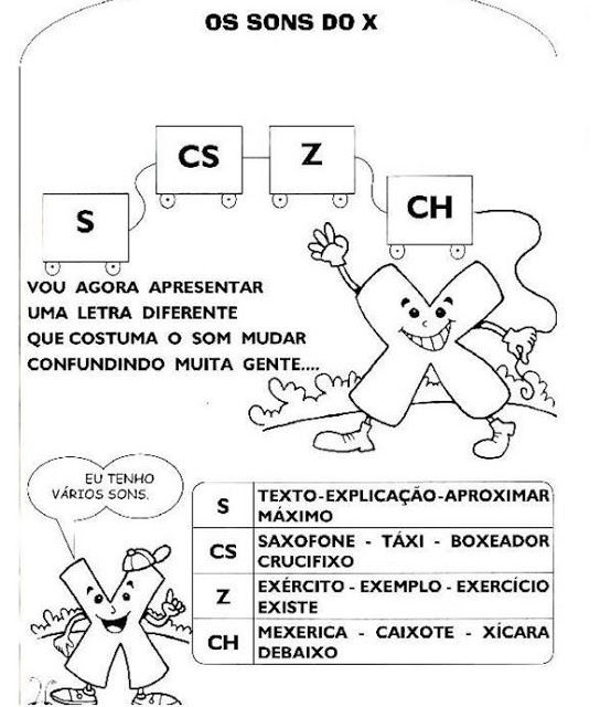 30 Atividades De Portugues Com Os Sons Do X Para Imprimir Espaco