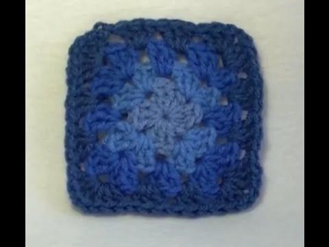 Crochet granny squares, Crochet granny and Granny square tutorial on ...