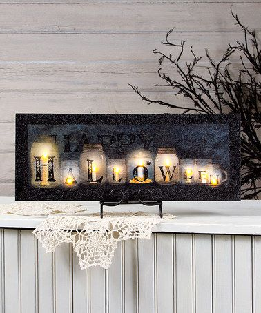 "Another great find on #zulily! 'Halloween"" Jars Light-Up Canvas #zulilyfinds"