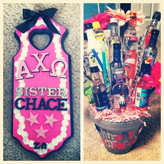Alpha Chi paddle and goodies
