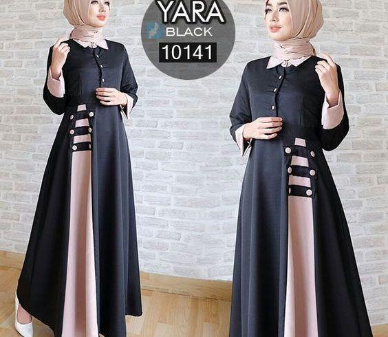 Model Gamis Terbaru Hitam Putih Ragam Muslim Pakaian Wanita Model Pakaian Hijab Model Pakaian