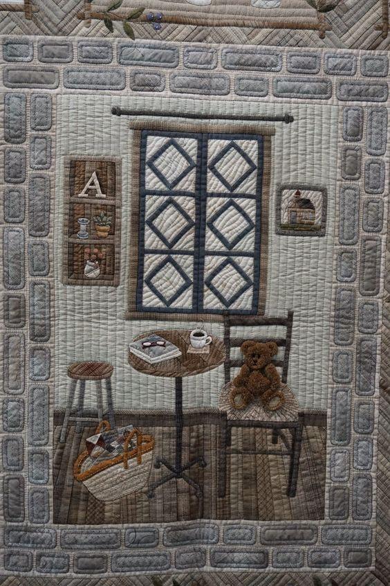 "Koala's place - CrossStitch & Patchwork & Embroidery: Tokyo International Great Quilt Festival - Part 5 - ""Country antique ZAKKA"" by Mariko Akahori."
