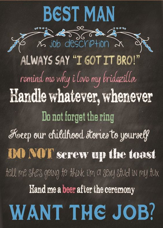 Will you be my Best Man Card.  A great and fun way to ask!