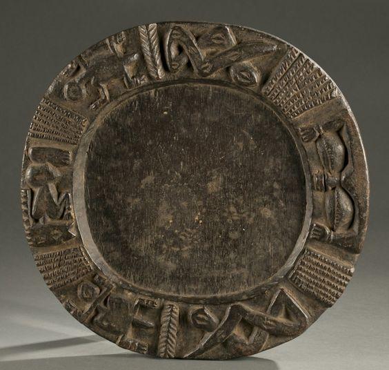 Yoruba divination board, 20th c.