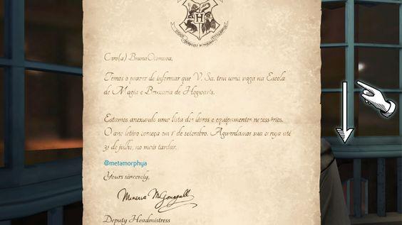 Joguinho Viciante: Harry Potter Hogwarts Mystery - a tão sonhada carta<3