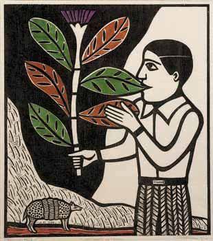 Comedor de Folhas de Gilvan Samico (Brasil - 1928) - xilogravura