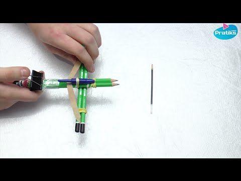 Comment faire une mini arbalète de bureau avec des crayons ! - YouTube