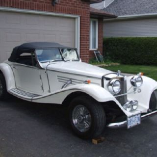 My 1936 Mercedes Benz 500K. Twenty-four years to built. Now on the road.
