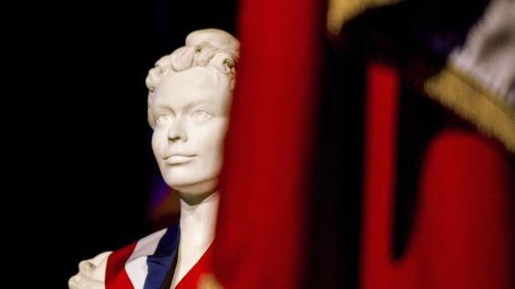 Le buste de Marianne, symbole de la République française.