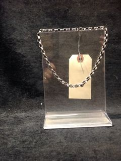 STERLING SILVER NECKLACE. WEIGHS 1.4 OUNCES. MEASURES 16 INCHES LONG.