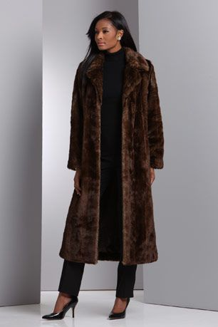 Images of Long Fur Coat - Reikian