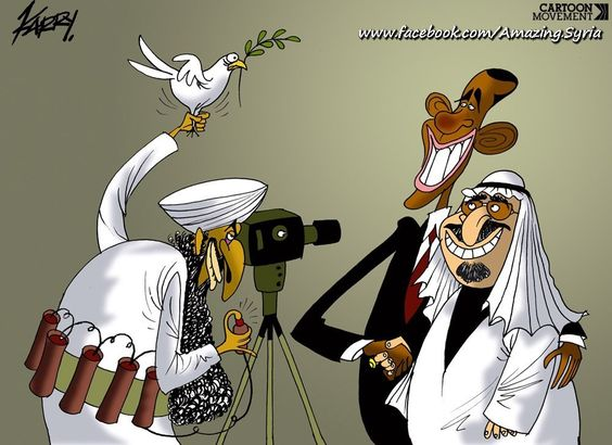 Beware of Arabs bearing Olive Branches |DEFEAT OBAMA TOONS