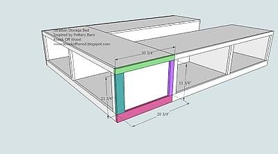 ... bed frame | For the Home | Pinterest | Bed plans, Kind of and Beds