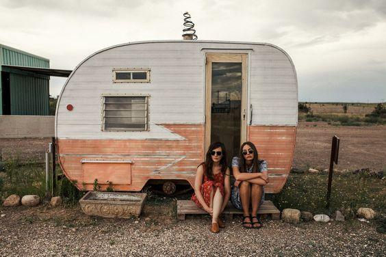 hipster girls caravan trailer