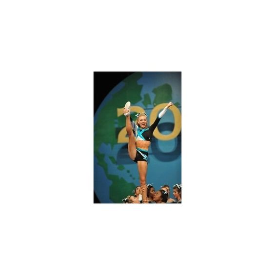 Cheer Extreme Maddie Gardner Erica Englebert ❤ liked on Polyvore featuring home, kitchen & dining, cheer and sport