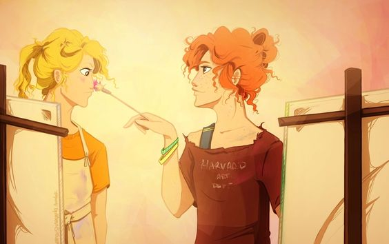 Rachel tries to teach Annabeth how to paint. ~ Yes... I know need a fanfic about this.
