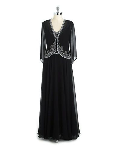 Dresses mother of bride embellished chiffon jacket for Lord and taylor dresses for weddings