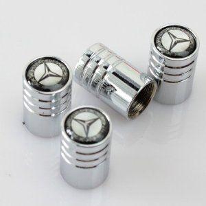 Mercedes benz car wheel tire valve stem caps mercedes for Mercedes benz valve stem caps