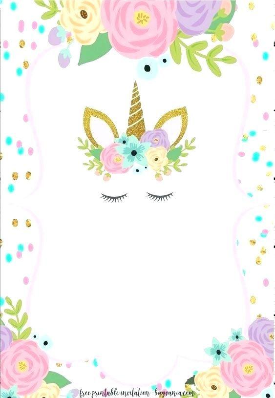 unicorn birthday invitations with