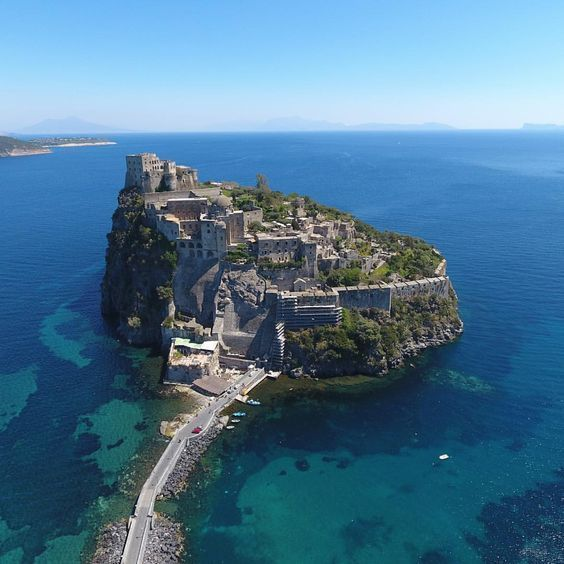 Ischia Italienische Insel Neapel Bucht Kampanien Im
