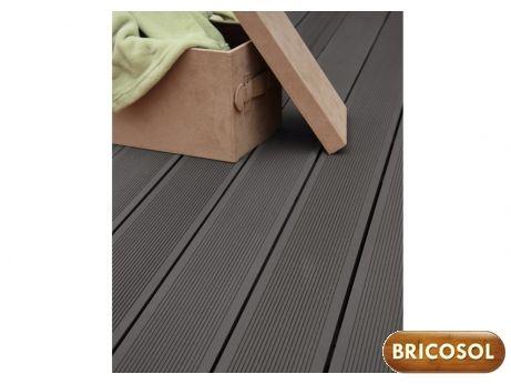 Lot de 3 lames de terrasse en composite terae gris prix promo vente unique - Lame de terrasse composite discount ...