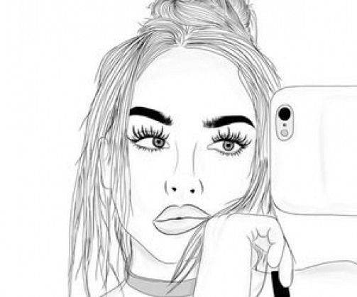 Imagen Inspiradora En We Heart It Peopledrawing People Drawing Pencil Girly Drawings Outline Drawings Tumblr Outline