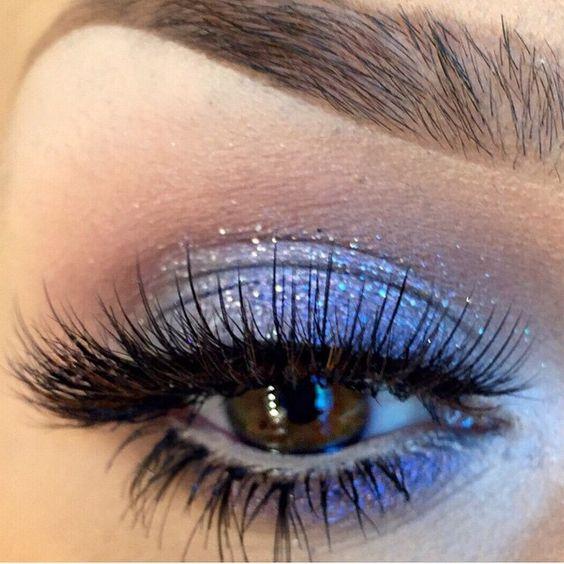 Pretty fairy eyes by @makeupbyanna wearing #sugarpill Tako eyeshadow, @anastasiabeverlyhills @maya_mia_y palette and @shopvioletvoss Misty glitter!