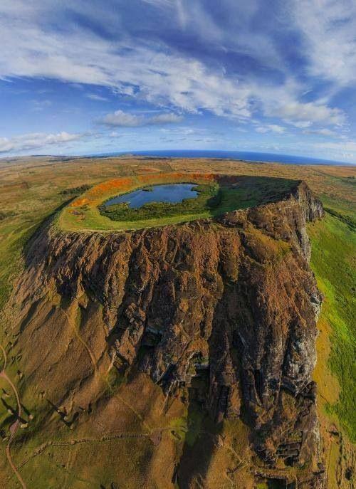 Crater de la Isla de Pascua, Chile
