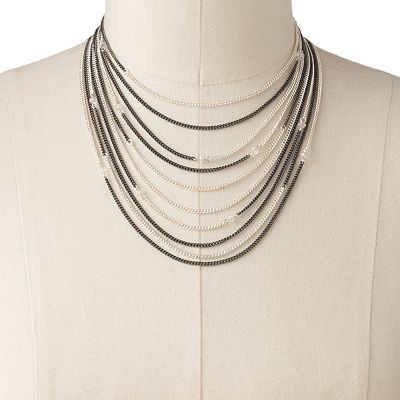 Candie's® Bead & Chain Multistrand Bib Necklace  sale $14.00