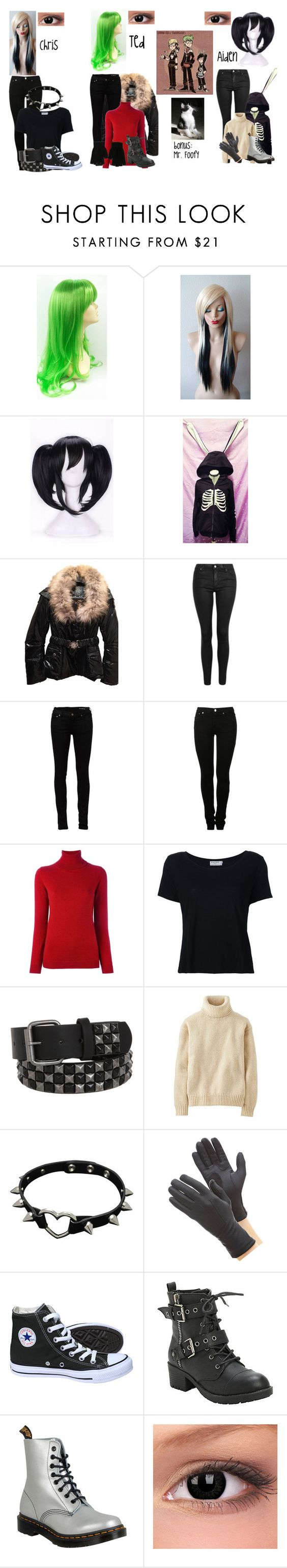 """Urban Kid n Teenagers inspired set"" by nebulaprime ❤ liked on Polyvore featuring beauty, Just Cavalli, Topshop, Yves Saint Laurent, MM6 Maison Margiela, Allude, Frame, Uniqlo, Isotoner and Converse"