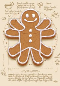 vitruvian man funny pictures | ... Me t-shirt design features The Gingerbread Man as the Vitruvian man