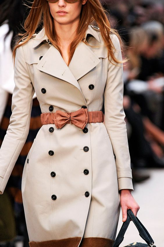 adorable trench coat + bow belt