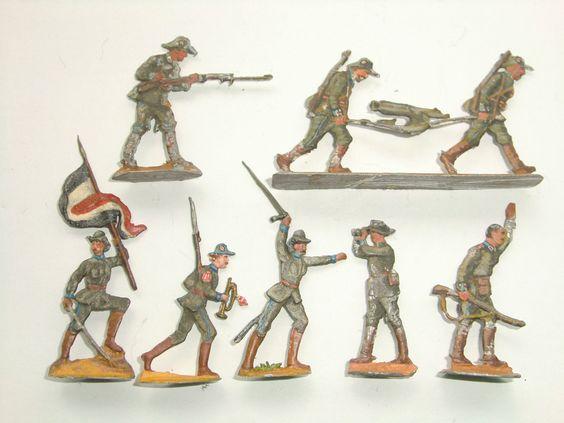 1904/Heinrichsen/ Neckel/ Schutztruppe Deutsch - Südwestafrika kämpfend 30 mm SB…