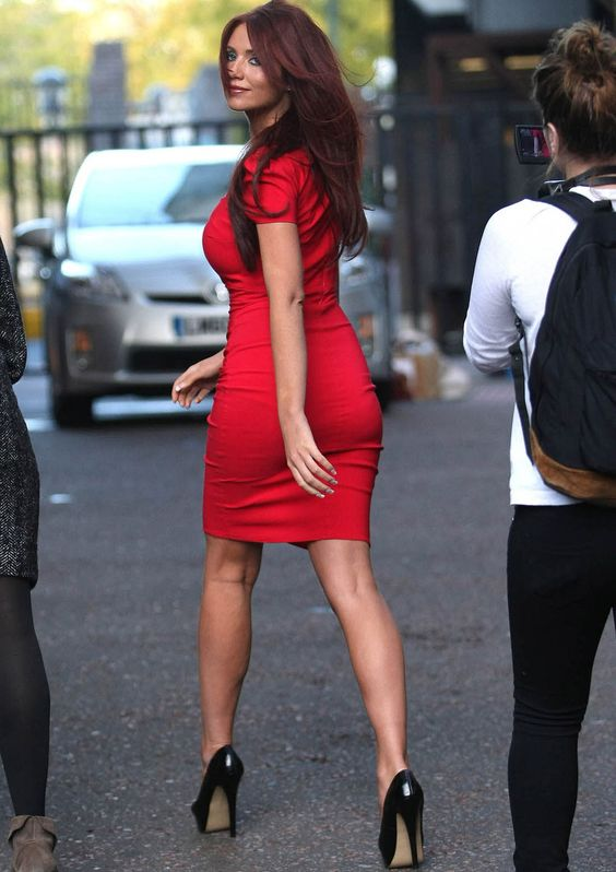 Love this RED dress, hair and heels / Classy & Hot | My Style ...