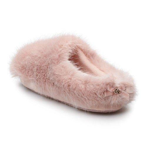 LC Lauren Conrad Plush Clog Slippers