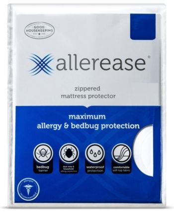 Allerease Maximum Waterproof Allergy And Bedbug Zippered Twin Xl Mattress Protector Reviews Mattress Pads Toppers Bed Bath Macy S Mattress Protector Twin Xl Mattress Bed Bugs