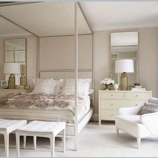 Phoebe Howard On Instagram A Soft Master Bedroom In Silver And Ivory Tones Phoebehowarddecorator With Images Luxe Interiors Master Bedroom Beautiful Bedrooms