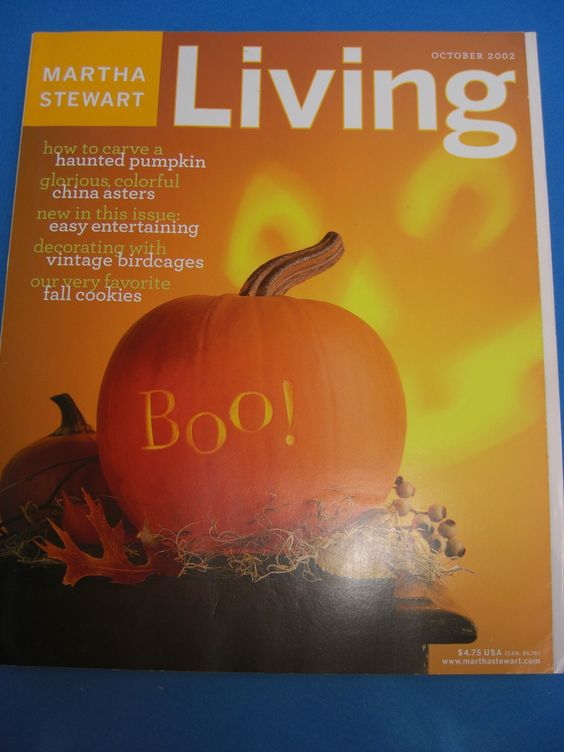 Magazine Martha Stewart Living October 2002
