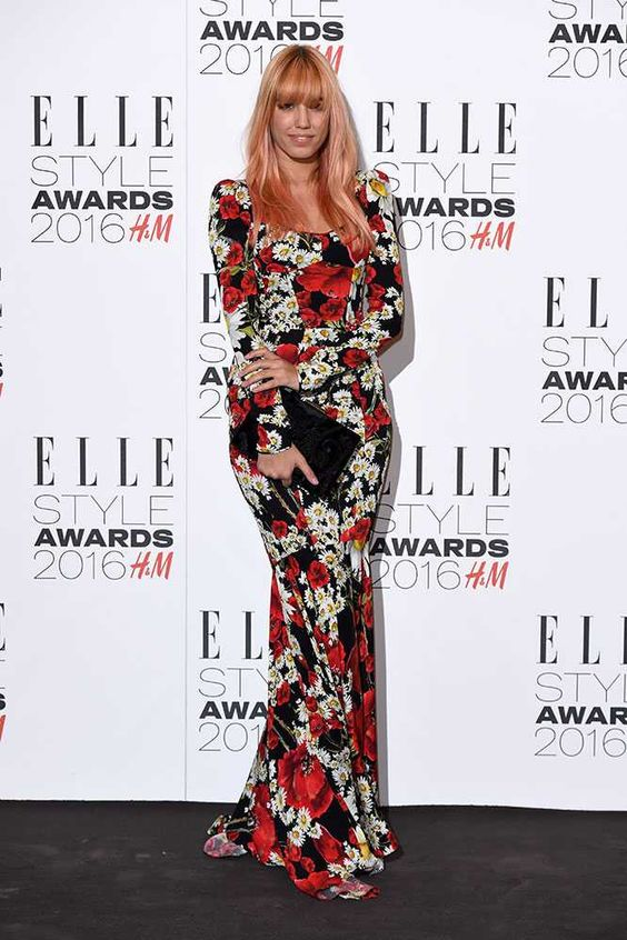 Amber Le Bon at the ELLE Style Awards 2016 in London, February 2016