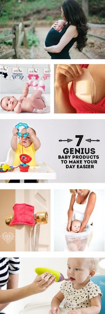 7 gênio do bebê produtos para tornar seu dia mais fácil. E eu deveria comprar esses itens para o próximo bebê. :)