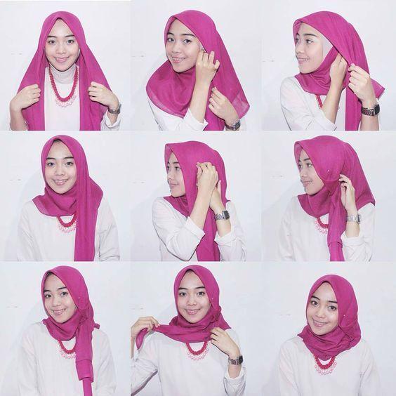 25 Inspirasi Tutorial Hijab Segi Empat Terbaru 2018 Tutorial